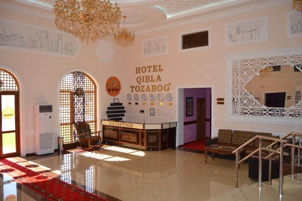 Гостиница Кибла Тозабог Хива ресепшн 3