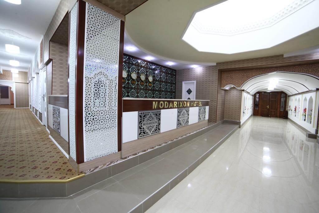 Гостиница Модарихон Бухара ресепшн 5