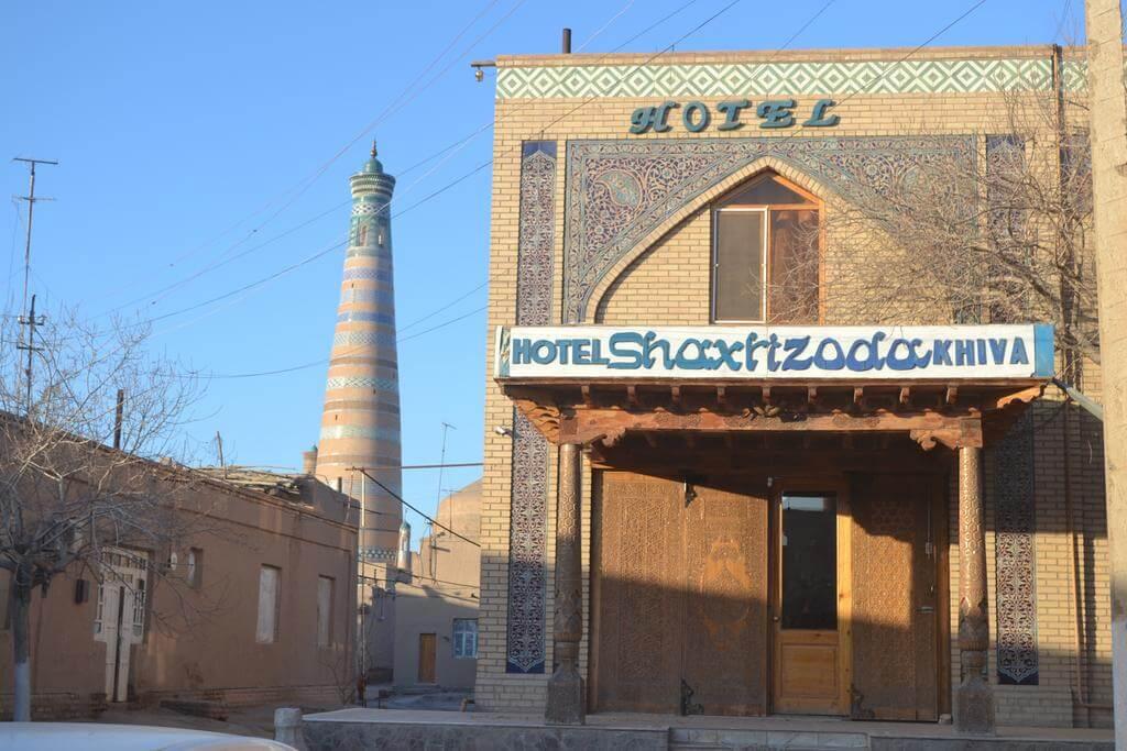 Гостиница Шахерезада Хива фасад 1